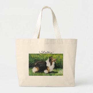 """Sheltie"" Shetland Sheepdog Dog Art Tote Bag"