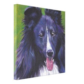 Sheltie Shetland Sheepdog fine art dog painting Canvas Print