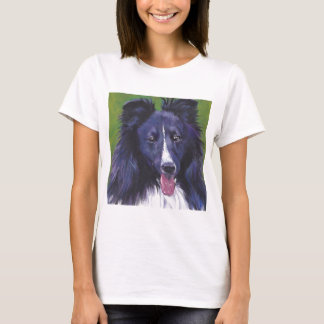 Sheltie Shetland Sheepdog fine art dog painting T-Shirt