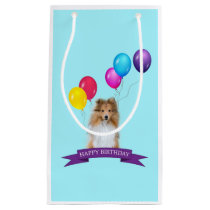 Sheltie Shetland Sheepdog Happy Birthday Gift Bag