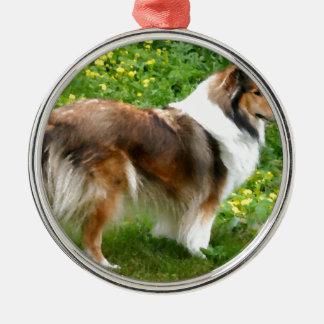 Sheltie Shetland Sheepdog Painting Metal Ornament