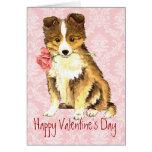 Sheltie subió tarjeta del día de San Valentín