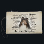 "Sheltie Traits Clutch<br><div class=""desc"">This Shetland Sheepdog clutch is a great gift for any Sheltie lover.</div>"
