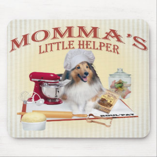 Sheltie Who's Been In Cookie Jar Momma's Helper Mouse Pad