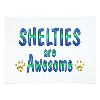 Shelties are Awesome Invitations