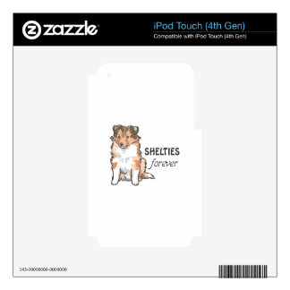 SHELTIES FOREVER DECAL FOR iPod TOUCH 4G