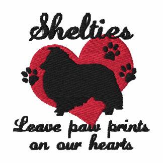 Shelties Leave Paw Prints Hoodie