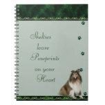 Shelties Pawrints en su cuaderno del corazón ~gree