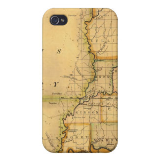 Shelton and Kensett's Map Of The State Of Indiana iPhone 4 Cover