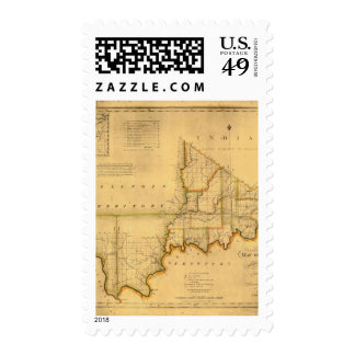 Shelton and Kensett's Map Of The State Of Indiana Postage