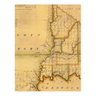 Shelton and Kensett's Map Of The State Of Indiana Postcard