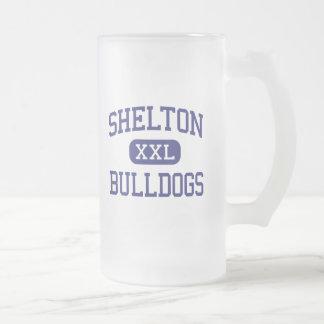Shelton - Bulldogs - High - Shelton Nebraska Frosted Glass Beer Mug