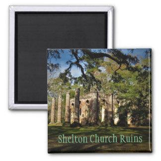 shelton church ruins magnet