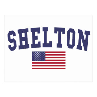 Shelton US Flag Postcard