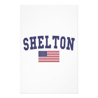 Shelton US Flag Stationery