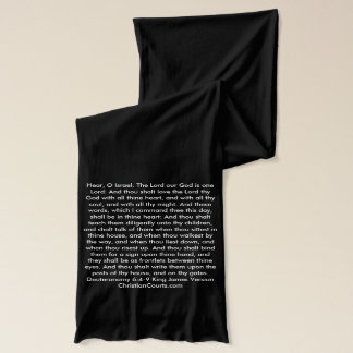 Shema English Prayer Deuteronomy Christian Scarf