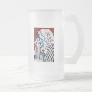 Shema YIsrael 16 Oz Frosted Glass Beer Mug