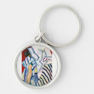 Shema YIsrael Silver-Colored Round Keychain