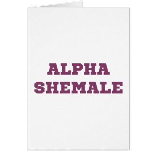 Shemale alfa tarjeta de felicitación