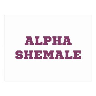 Shemale alfa tarjeta postal