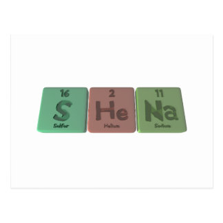 Shena  as Sulfur Helium Sodium Postcard