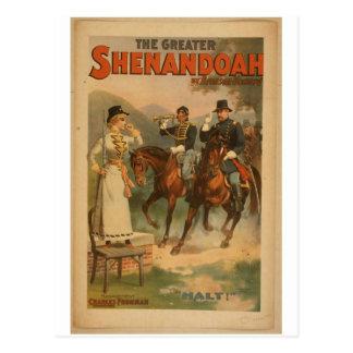 Shenandoah, 'Halt' Vintage Theater Postcard
