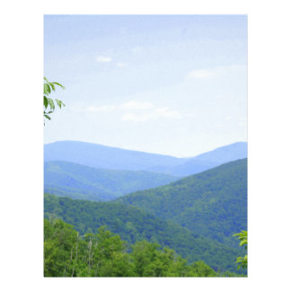 Shenandoah Mountains Personalized Letterhead