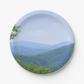 Shenandoah Mountains Paper Plate