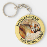 Shenandoah National Park Basic Round Button Keychain