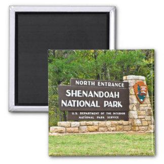 Shenandoah National Park North Entrance Sign 2 Inch Square Magnet