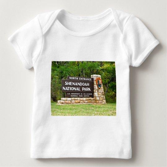 Shenandoah National Park North Entrance Sign Baby T-Shirt