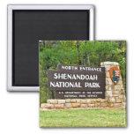 Shenandoah National Park North Entrance Sign Fridge Magnet