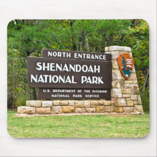 Shenandoah National Park North Entrance Sign Mouse Pad