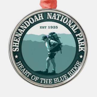 Shenandoah National Park Round Metal Christmas Ornament