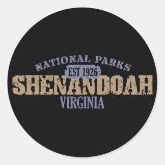 Shenandoah National Park Classic Round Sticker