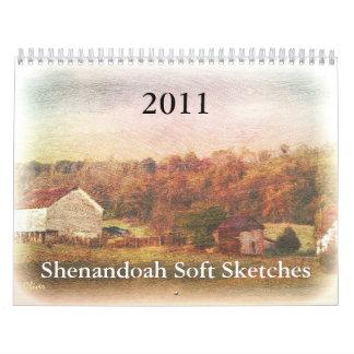 Shenandoah Soft Sketches 2011 Calendar
