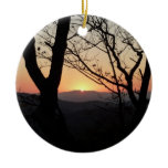 Shenandoah Sunset National Park Landscape Ceramic Ornament