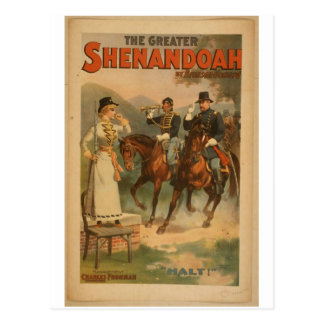 "Shenandoah, teatro del vintage del ""alto"" tarjeta postal"