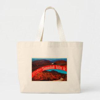 Shenandoah Valley Virginia VA Vintage Postcard- Large Tote Bag
