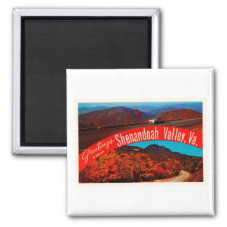 Shenandoah Valley Virginia VA Vintage Postcard- Magnet