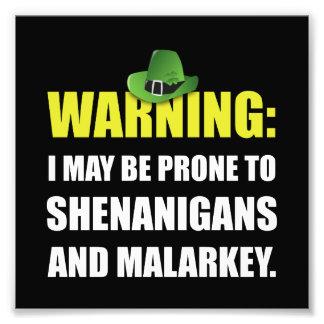 Shenanigans And Malarkey Photo Print