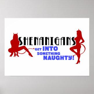 Shenanigans logo poster