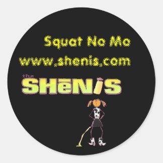 Shenis, Squat No Mo Classic Round Sticker