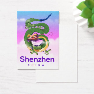 Shenzhen China Dragon travel poster Business Card