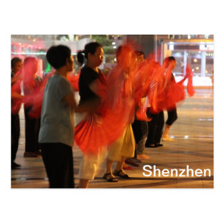 Shenzhen China - Fan Dances Postcard
