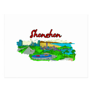 Shenzhen - China.png Post Cards