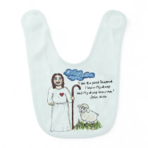 Shepard and Sheep Baby Bib