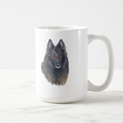 shepard pedigrí de Bélgica de la taza del perro