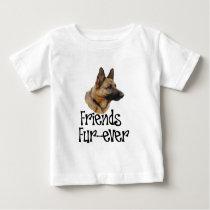 """sheperd """"Friends Fur-ever"""" Baby T-Shirt"""