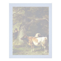 Shepherd and Cow Herd at the Pond Letterhead